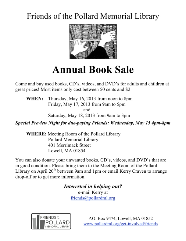 Friends of the PML Book Sale